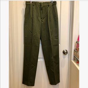 Lands' End Dark Green Chino Pant 32x31